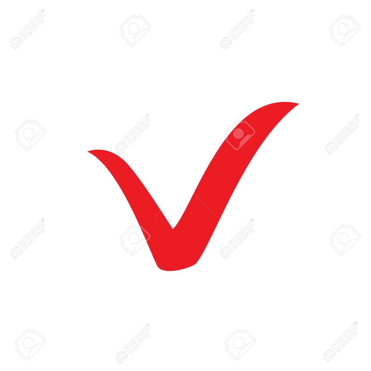 Red check mark icon  Tick symbol, tick icon vector illustration