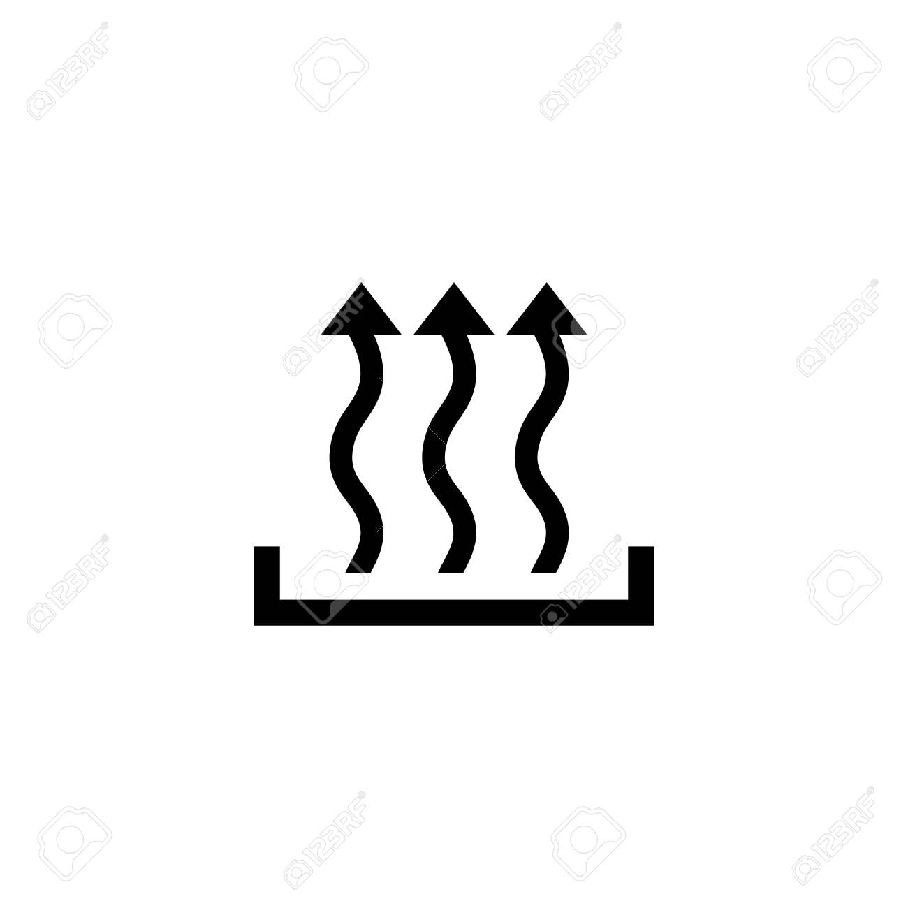 Heat icon three arrow up concept. Vector - 123028903