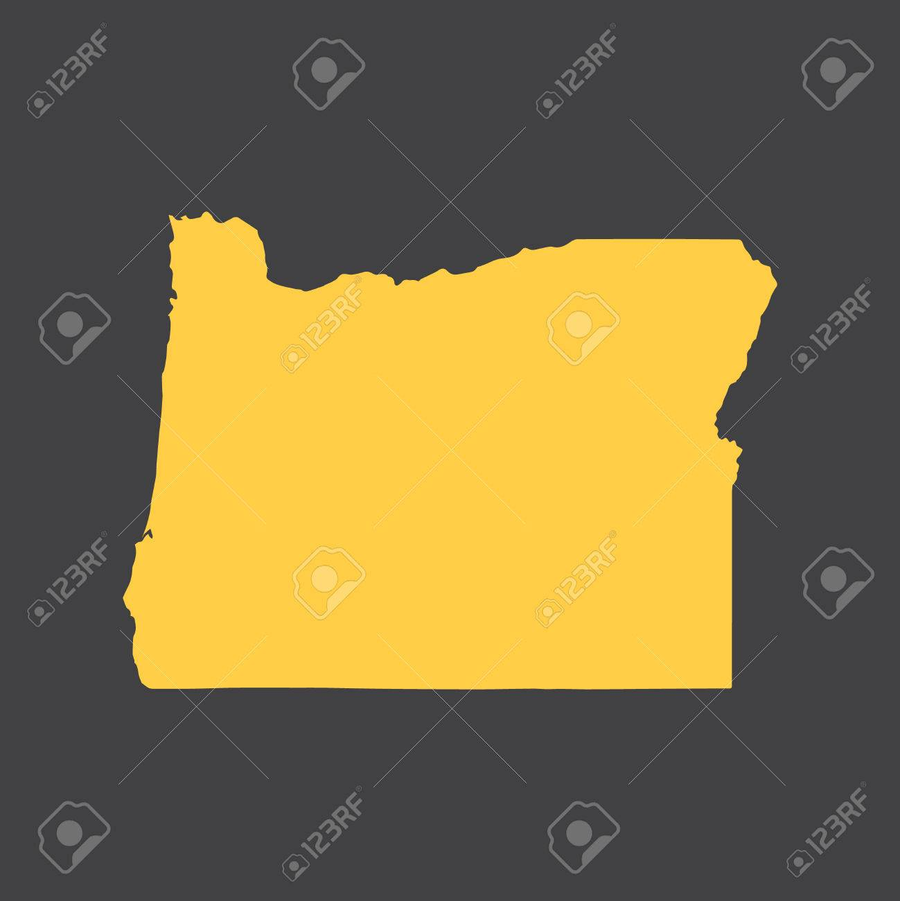 Oregon border, map.