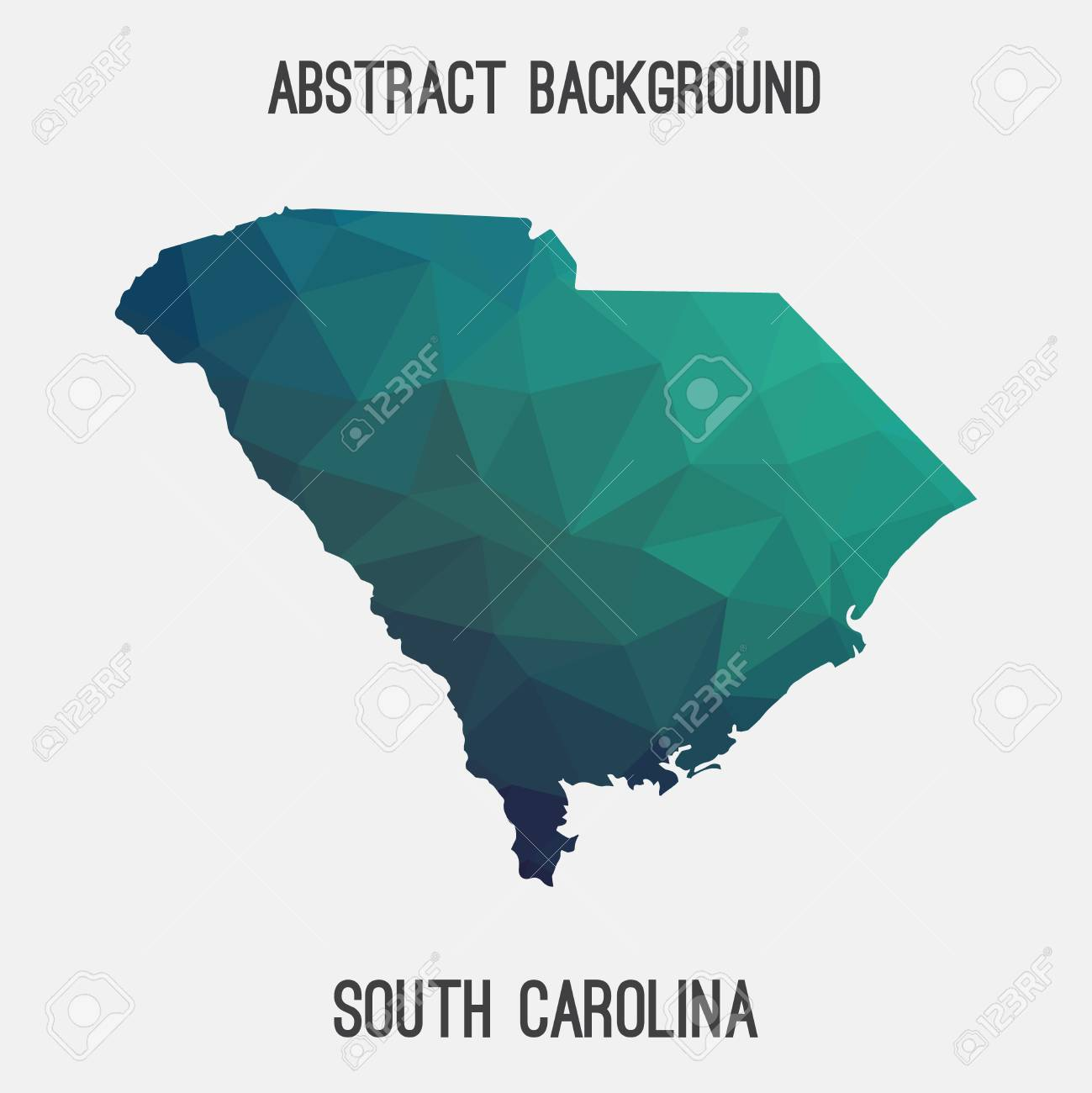 South Carolina State Map In Geometric Polygonal Style.Abstract ...