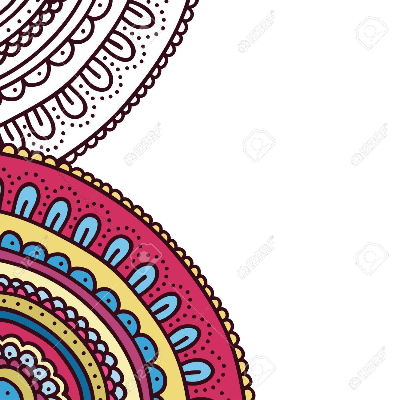 Ornamento De La Cubierta De Libro Para Colorear Doodle. Página Del ...