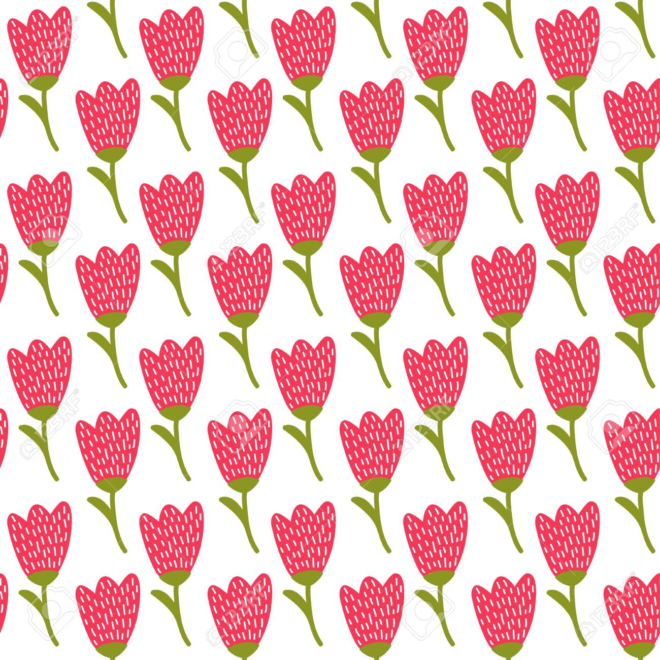 Simple doodle red tulip pattern cute flower seamless background simple doodle red tulip pattern cute flower seamless background summer wallpaper stock vector voltagebd Images
