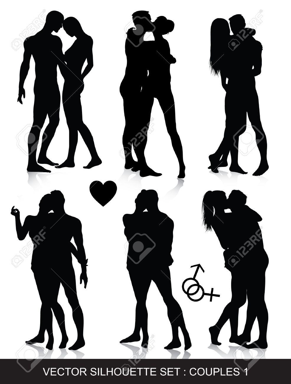 Черно белые эротические клипарты 26 фотография