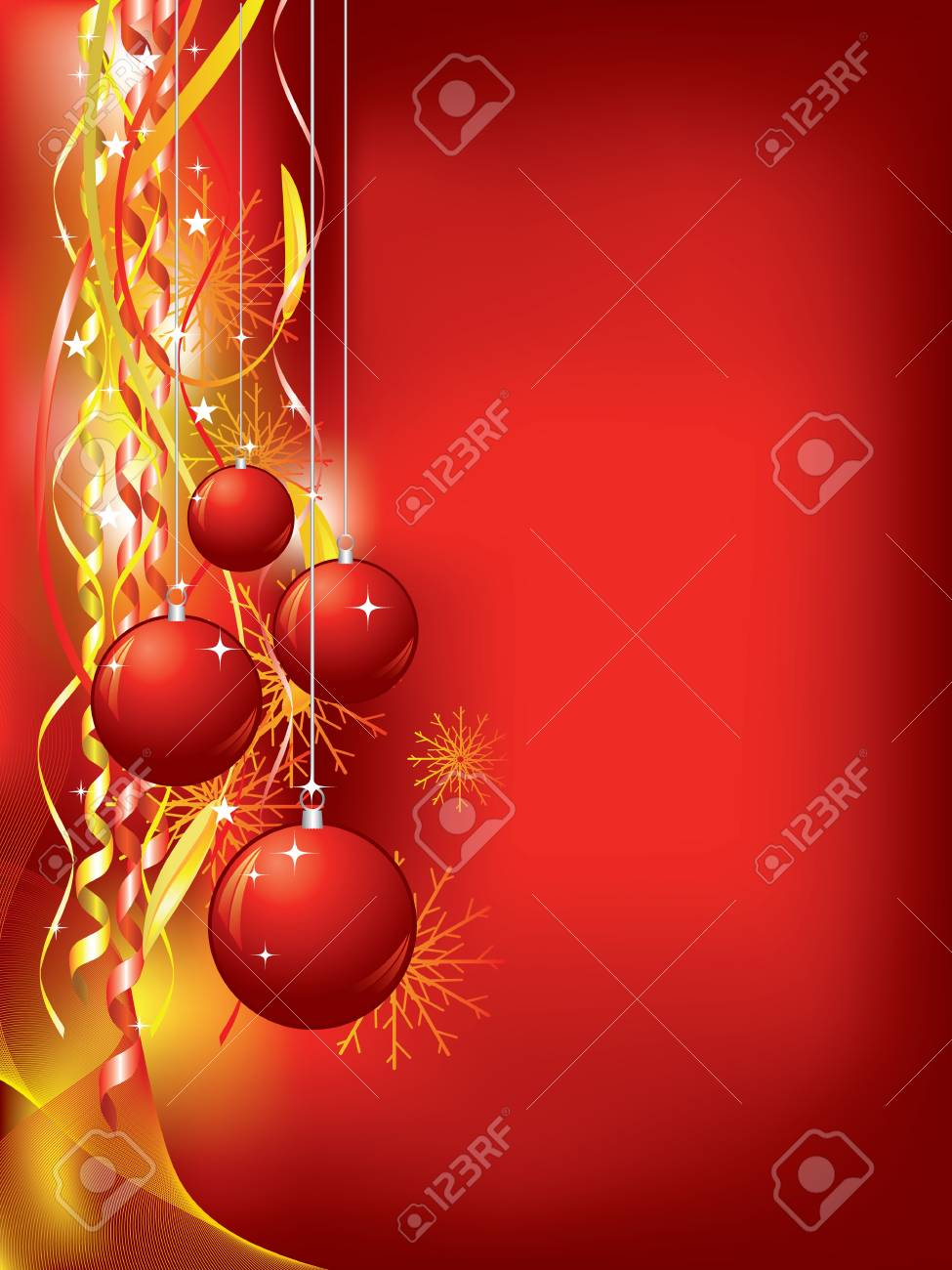Christmas background with confetti and baubles Stock Vector - 8381825
