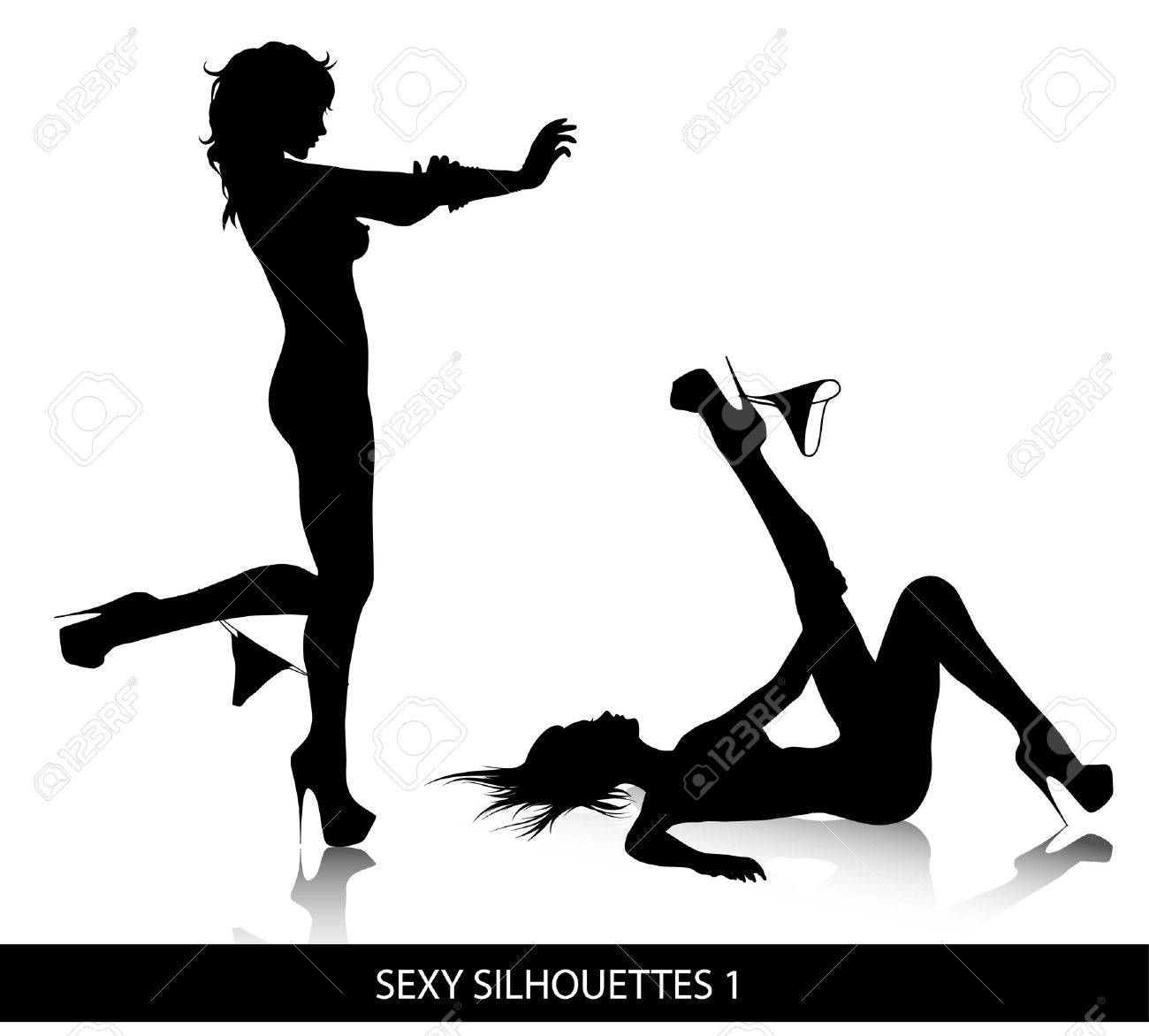 Sexy  silhouettes Stock Vector - 8505723