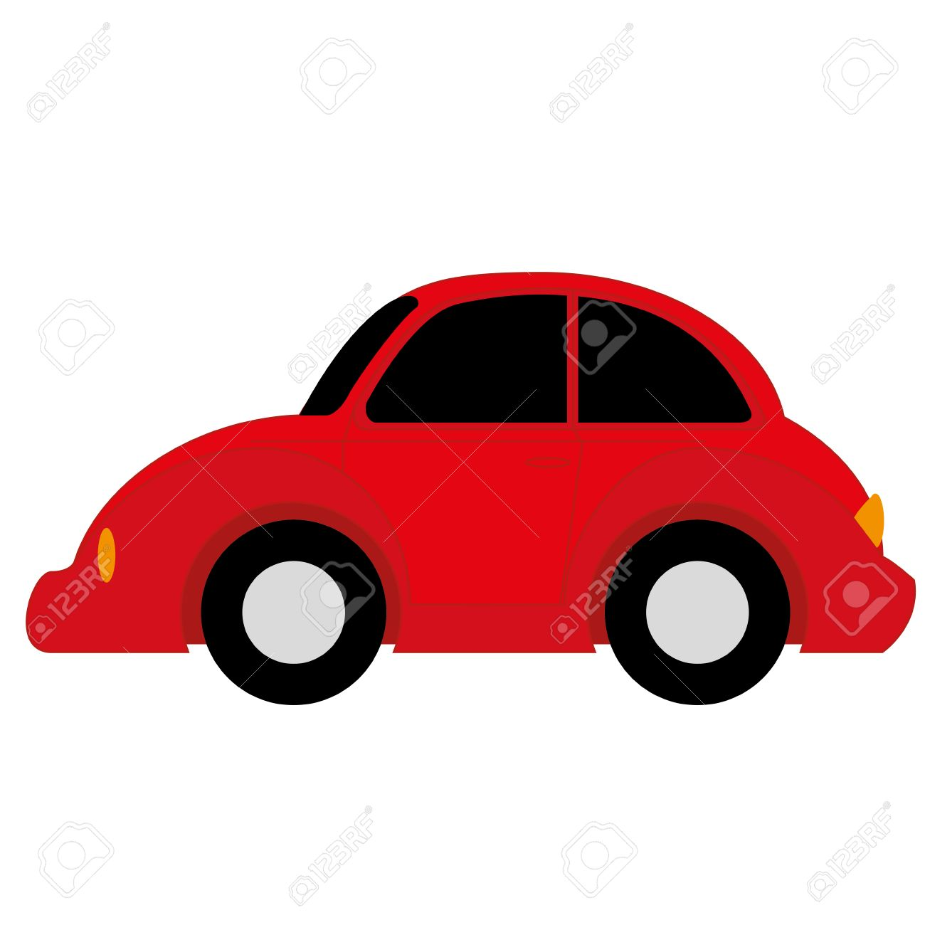 cartoon simple car on white background royalty free cliparts