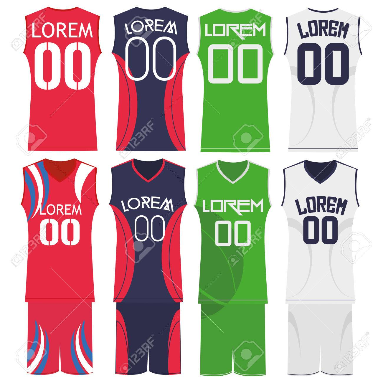 582d4fe7031d Vector Basketball Uniforms Isolated On White Background Stock Vector -  29529401