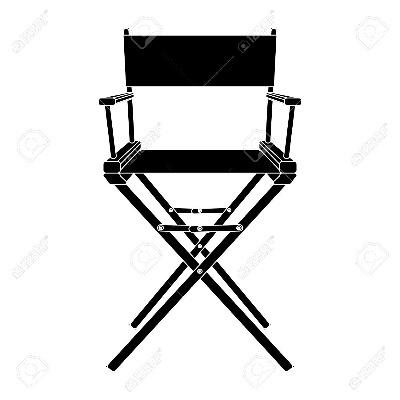 Black And White Director Chair Icon Isolated Stock Vector   29536307