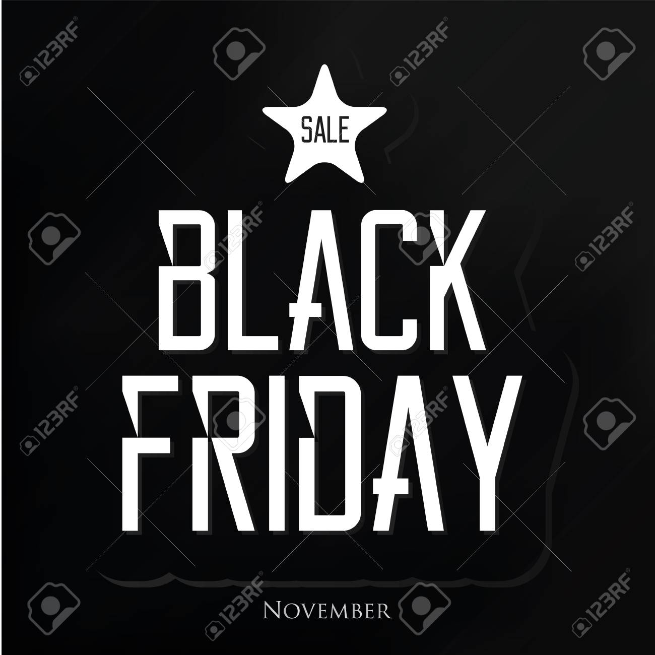 Vector vector black friday sticker isolated on background