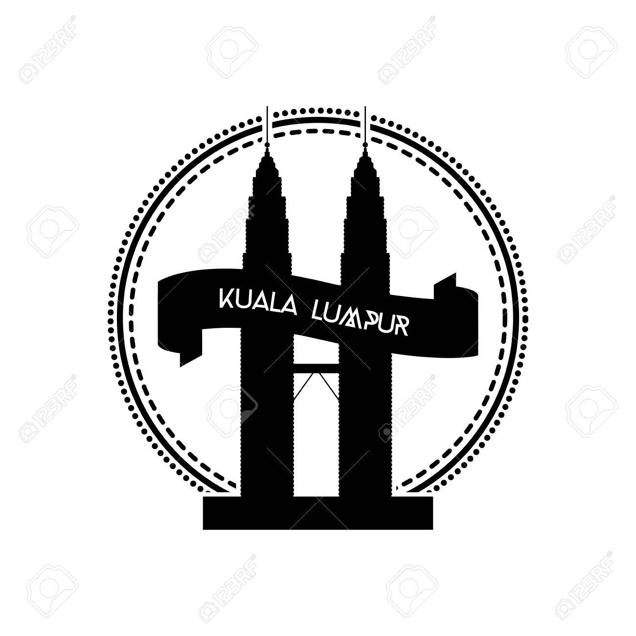 An isolated label with the silhouette of the petronas twin tower an isolated label with the silhouette of the petronas twin tower stock vector 35745191 buycottarizona Gallery
