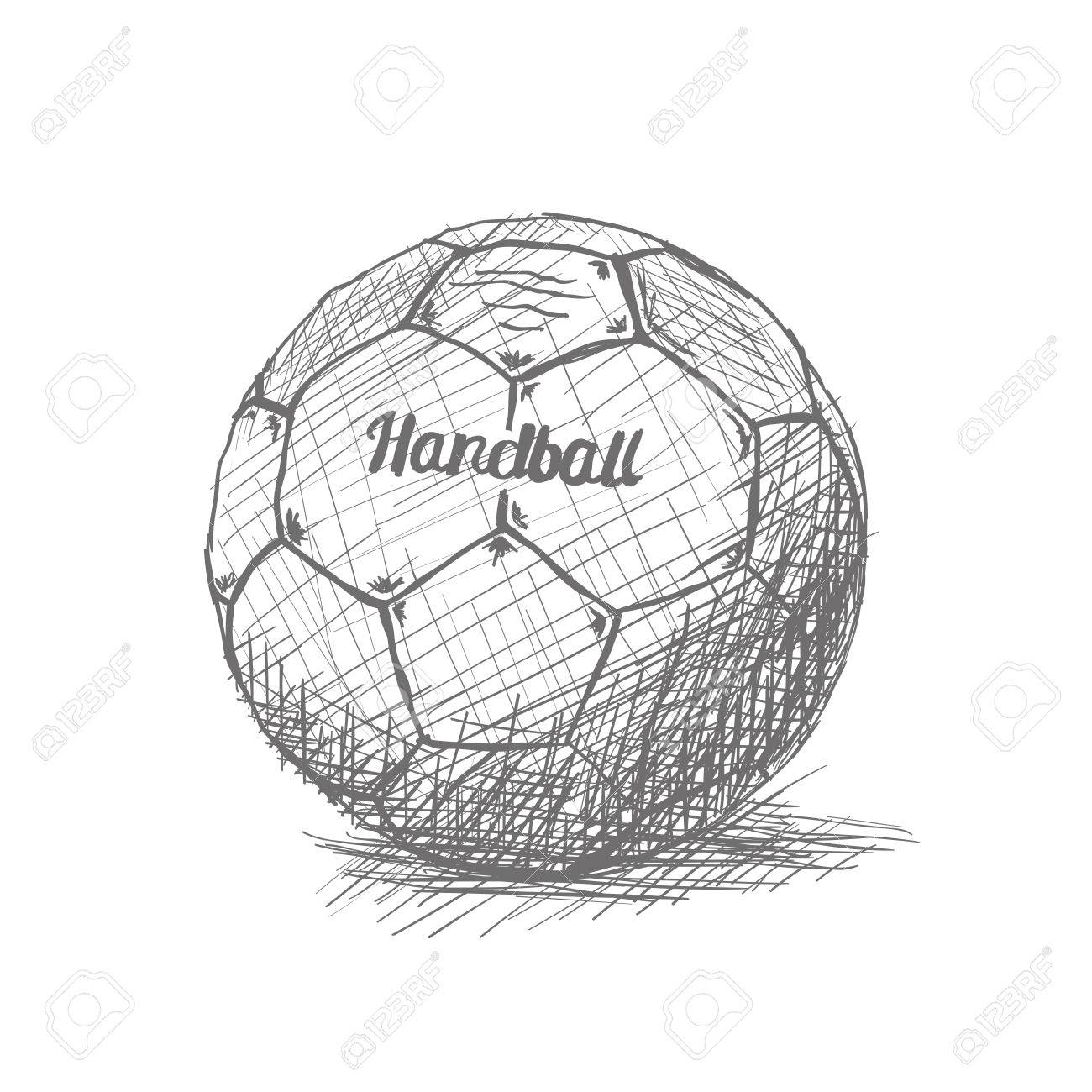 Isolated Sketch Of A Handball Ball On A White Background Royalty Free Cliparts Vectors And Stock Illustration Image 54185225