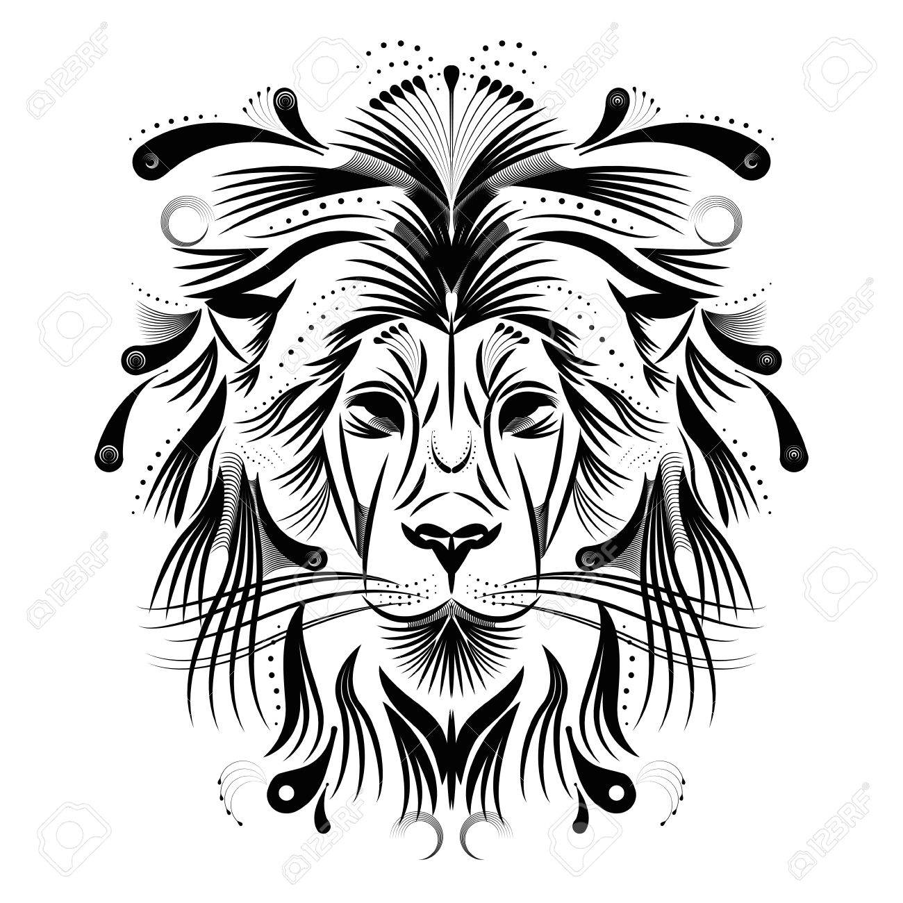 Isolated Outline Of A Lion Face Vector Illustration Royalty Free Cliparts Vectors And Stock Illustration Image 83219517 Select from premium lion head vector images of the highest quality. isolated outline of a lion face vector illustration