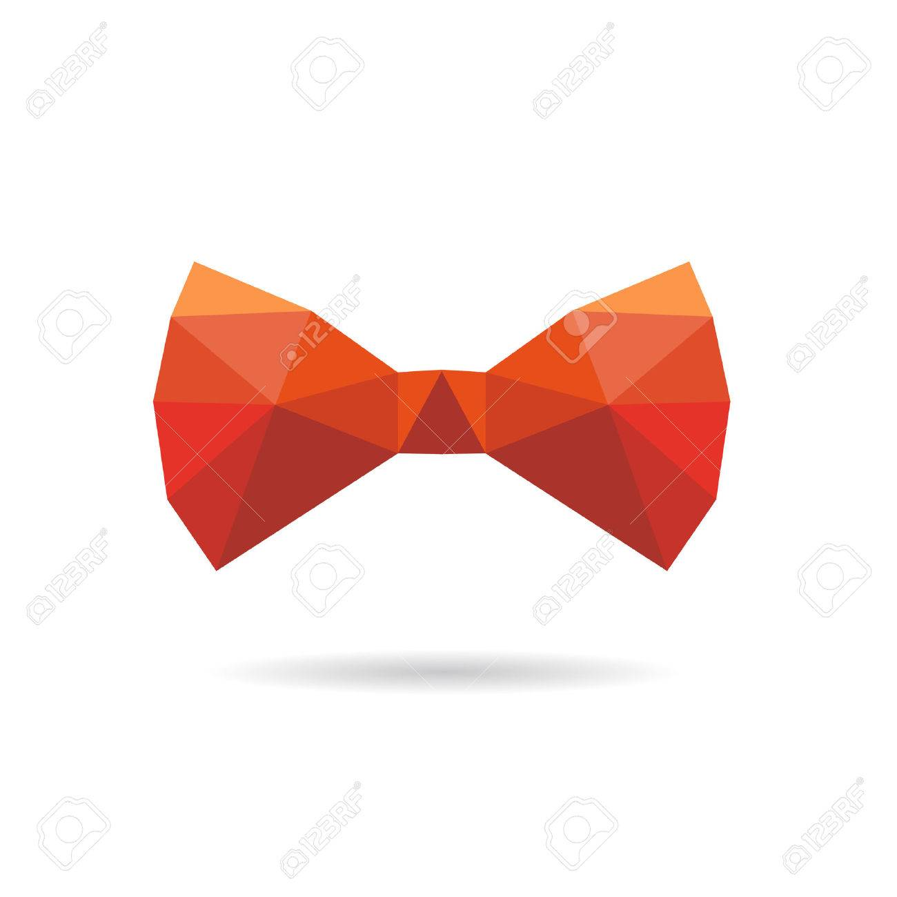 Bowtie Vector Bow tie abstract isolated on a