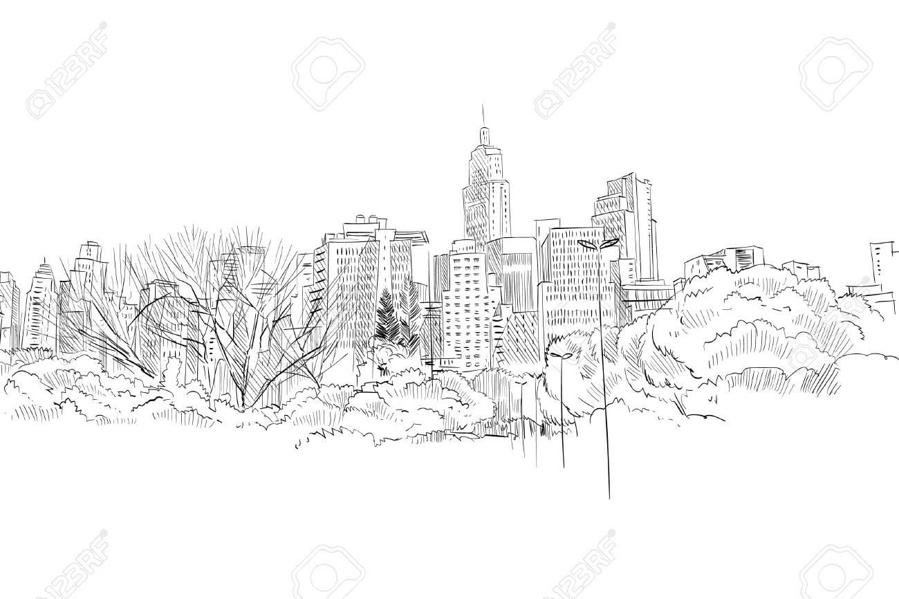 Sao paulo. Brazil South America Hand drawn city sketch. Vector illustration. - 135557404