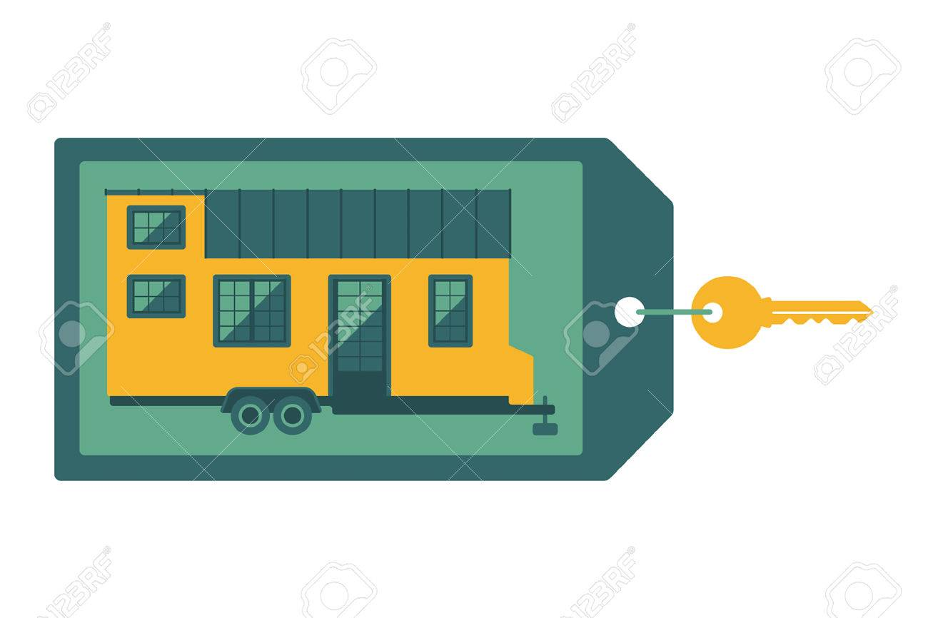 Key With Label On Which Depicts A Small House Flat Design Concept Royalty Free Cliparts Vectors And Stock Illustration Image 58521736