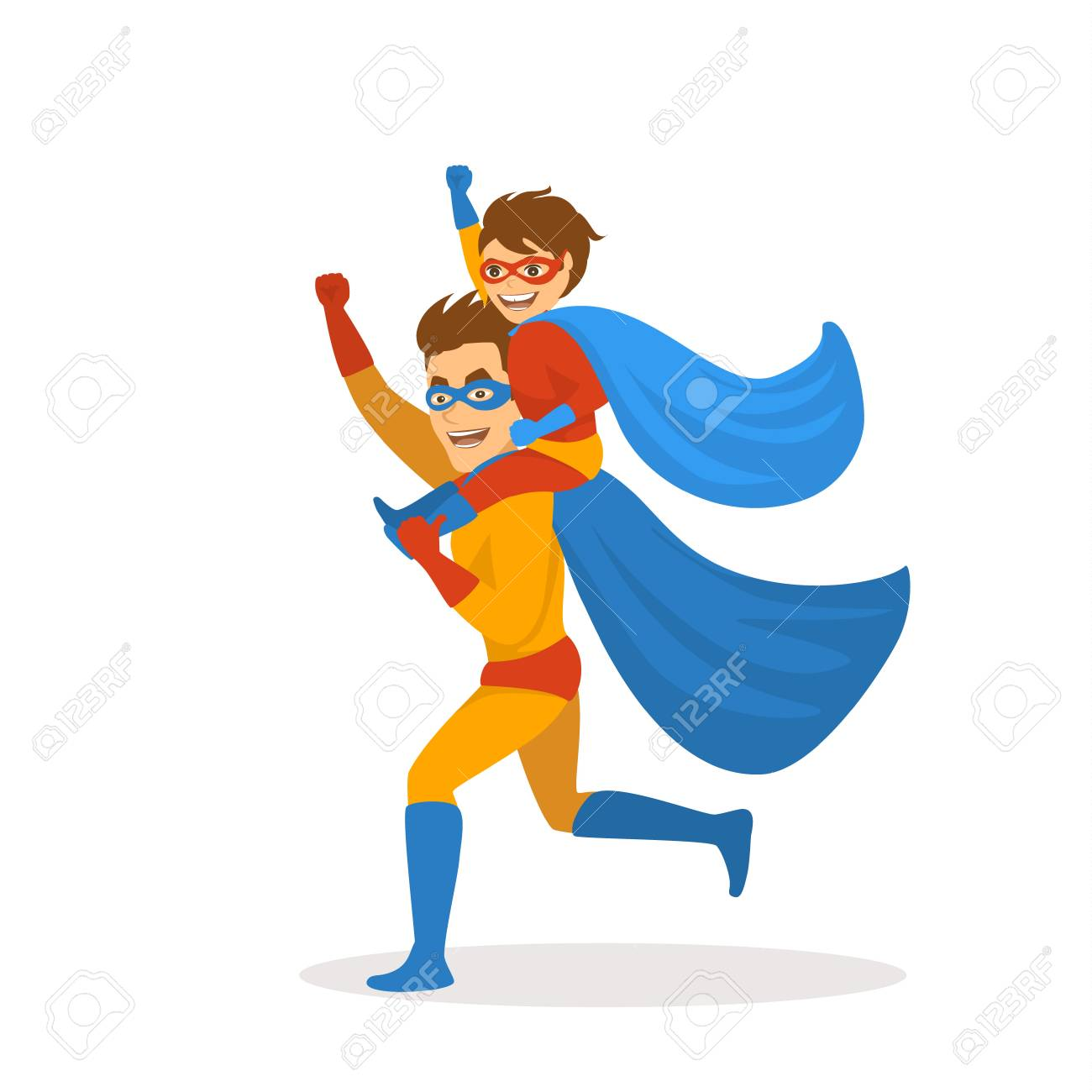 Super Hero Clip Art Running