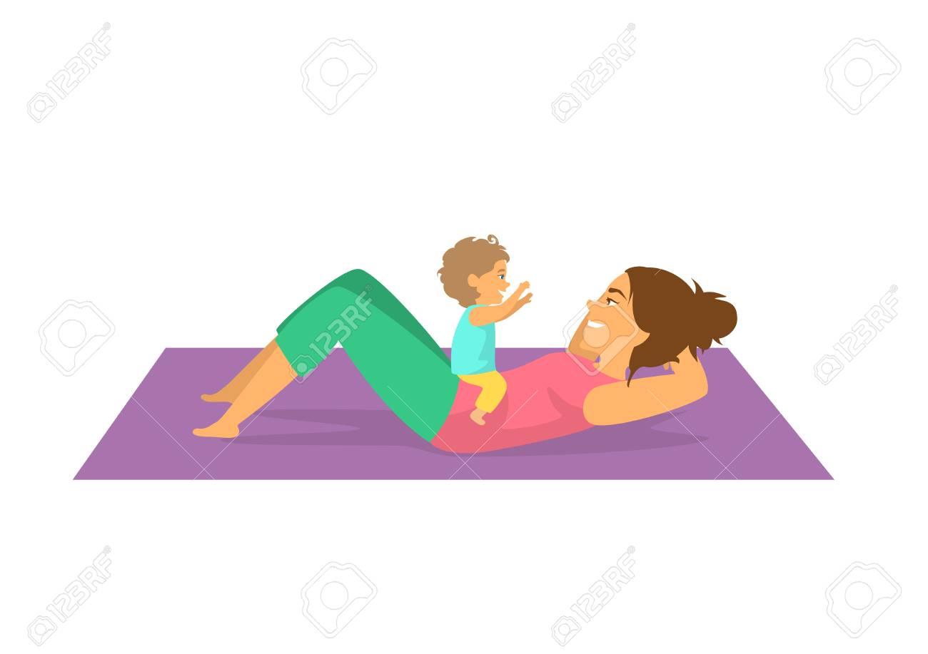 نتيجة بحث الصور عن workout with baby clipart