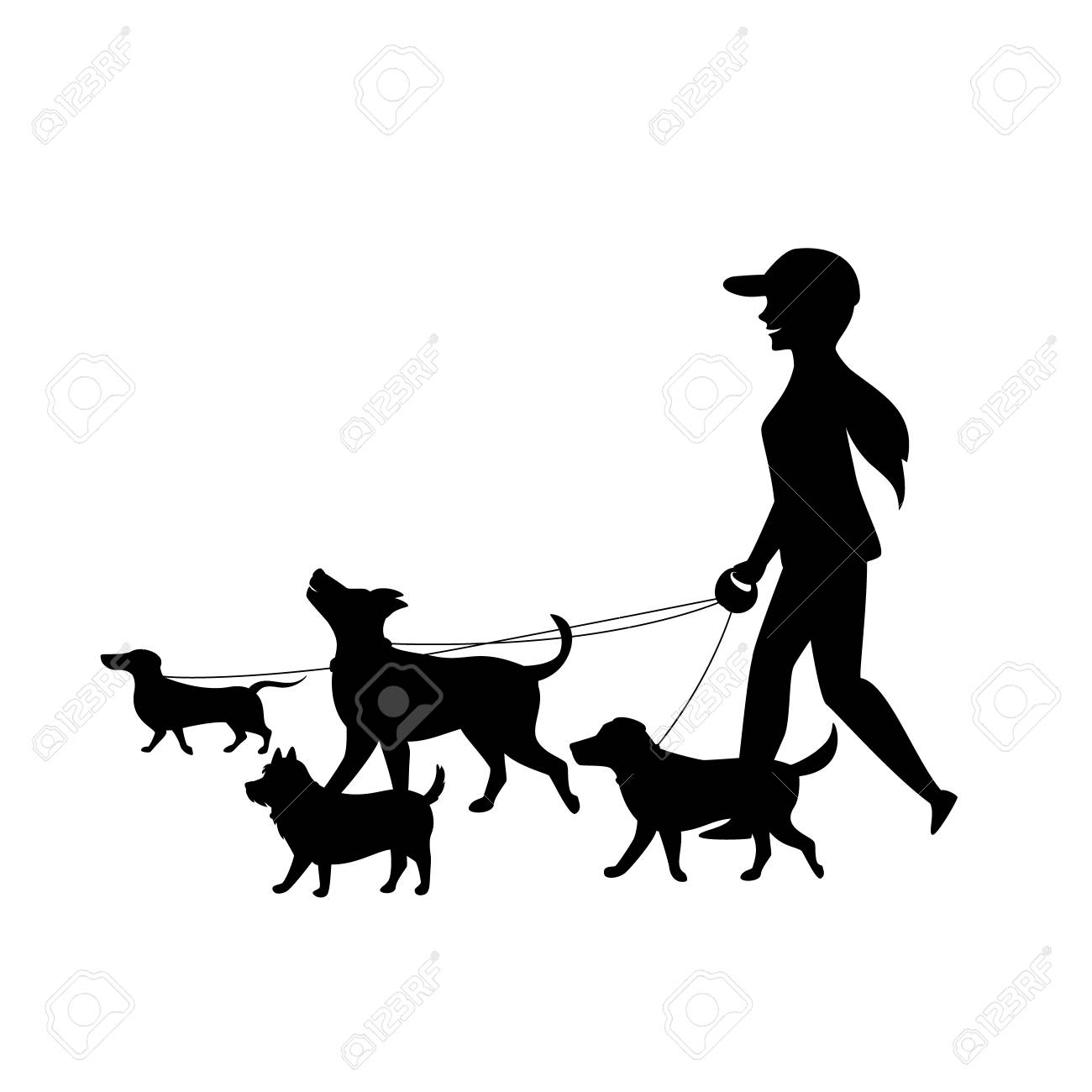 Free Vector Dog Sit Silhouettes, HD Png Download - kindpng