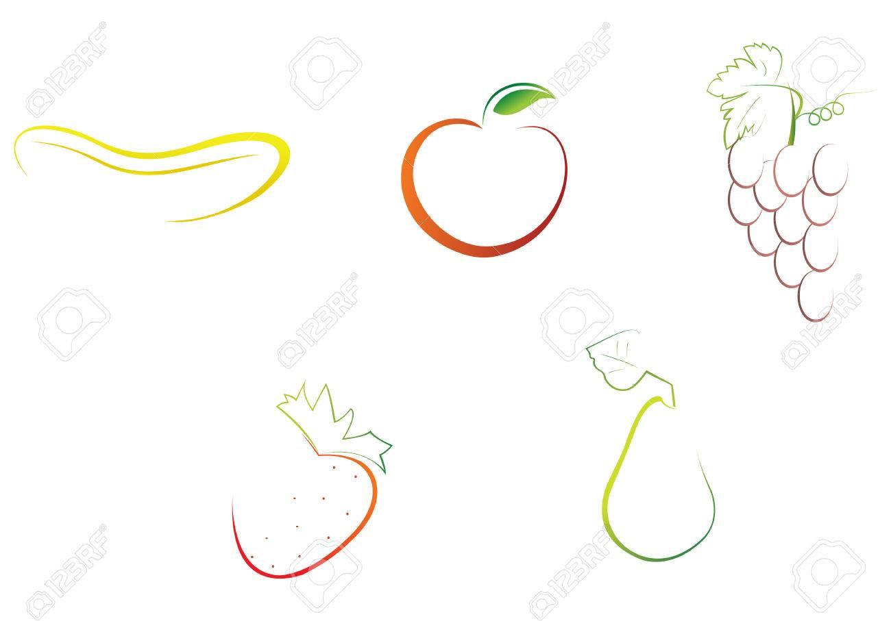 8 ベクトル ファイルを簡単に果物イラストを編集するには ロイヤリティ