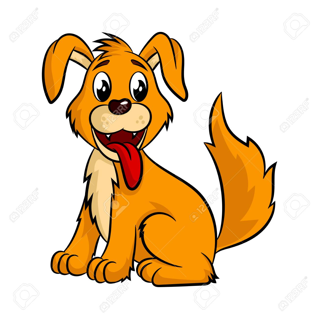 cute cartoon dog vector illustration isolated on white background rh 123rf com dog vector free dog vector free