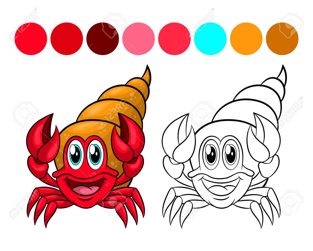 Coloring Book Design For Kids And Children Vector Illustration