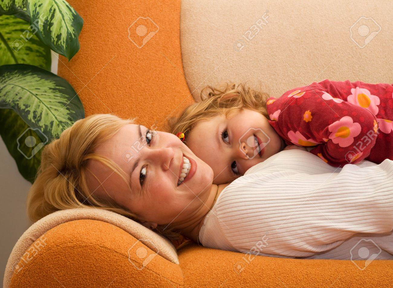 Happy mother and daughter sharing a tender moment Stock Photo - 2753423