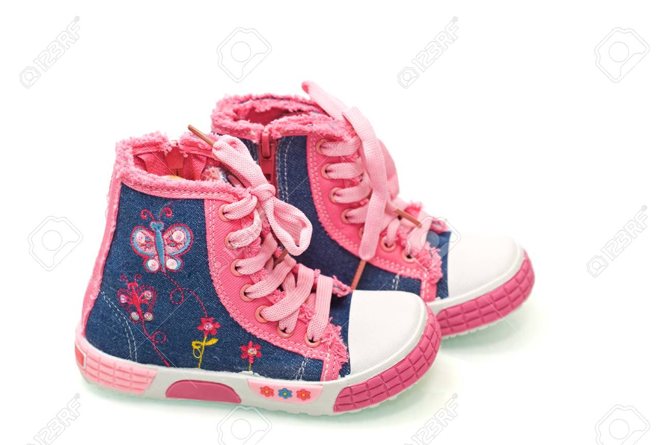Little fairy sneakers for girls - isolated Stock Photo - 4341187