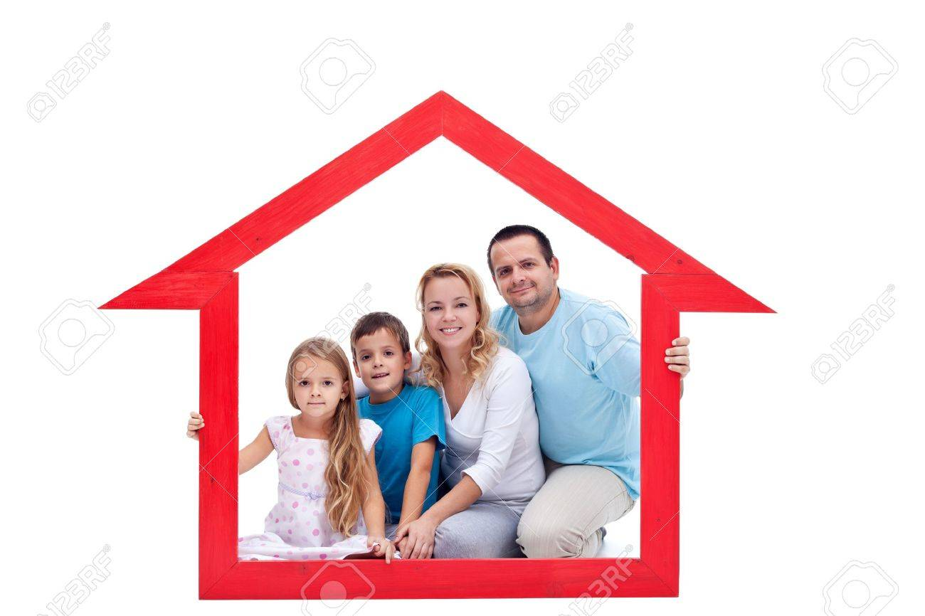 Family members in their home - real estate concept Stock Photo - 12477256