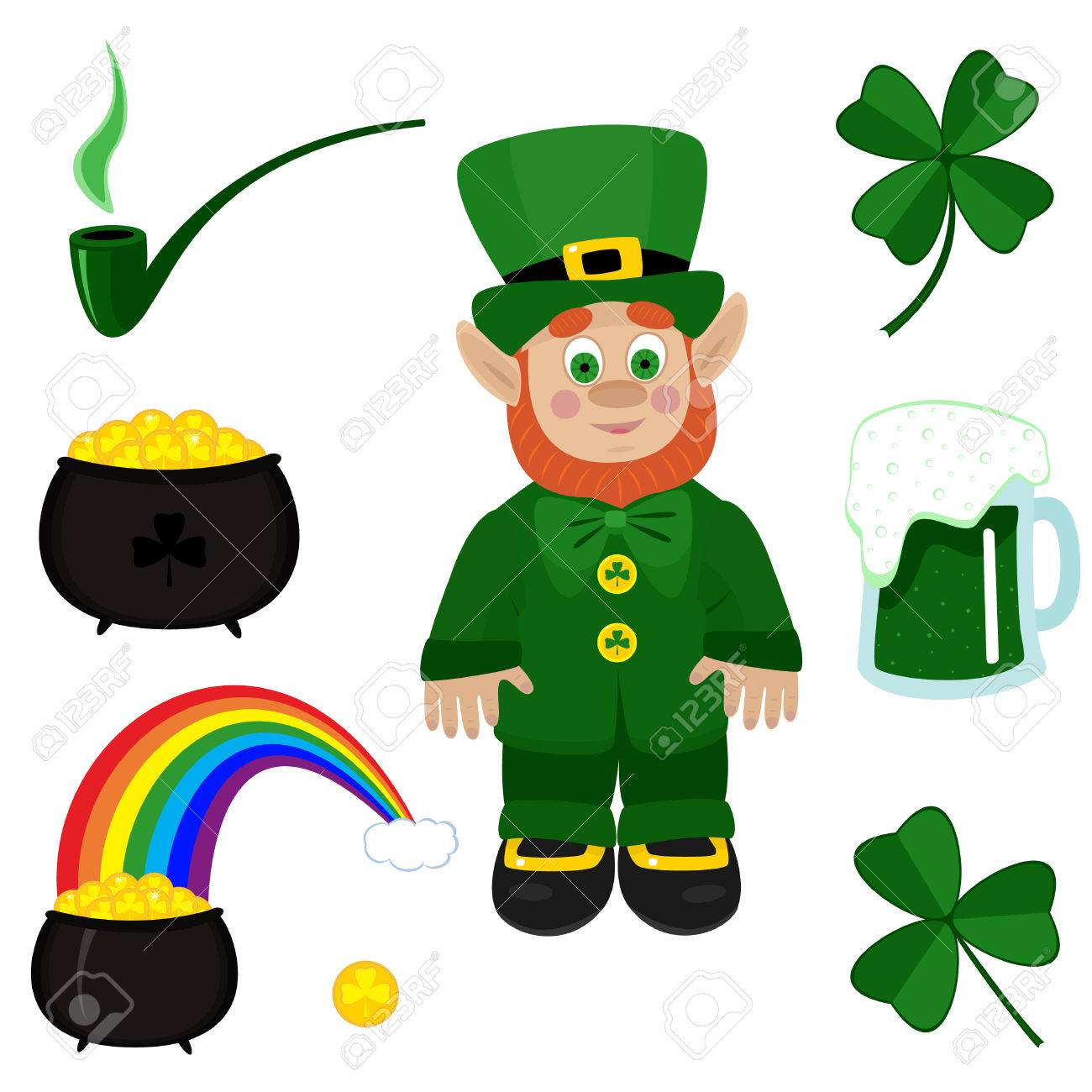 St. Patricks Day Clip-art On White Background. Royalty Free ...