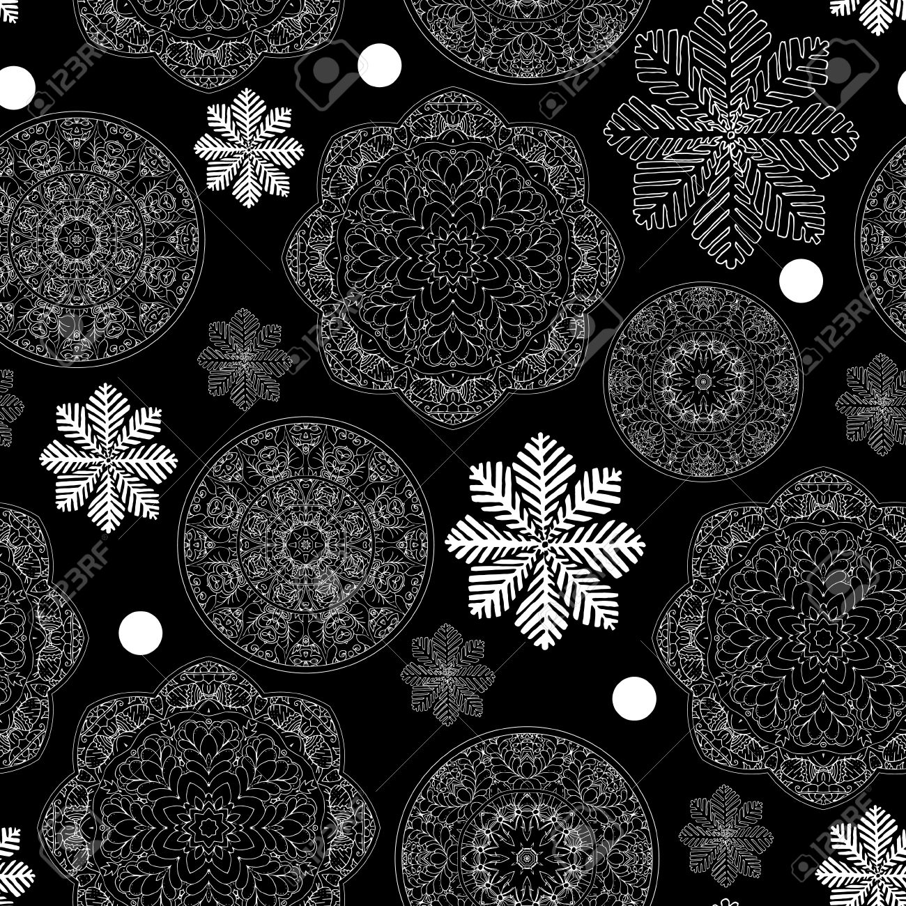 Rustic Winter Seamless Pattern For Scrapbook Paper Design Merry Christmas Printable Vector Illustration
