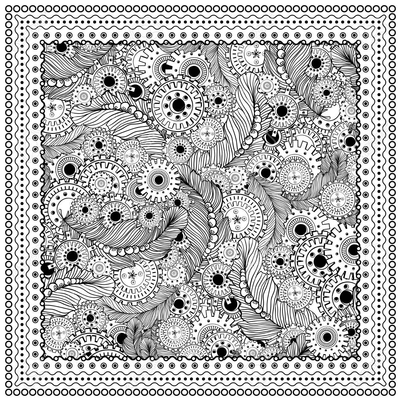 Negro Ilustración Vectorial De Color Mono. Diseño De Página Del ...
