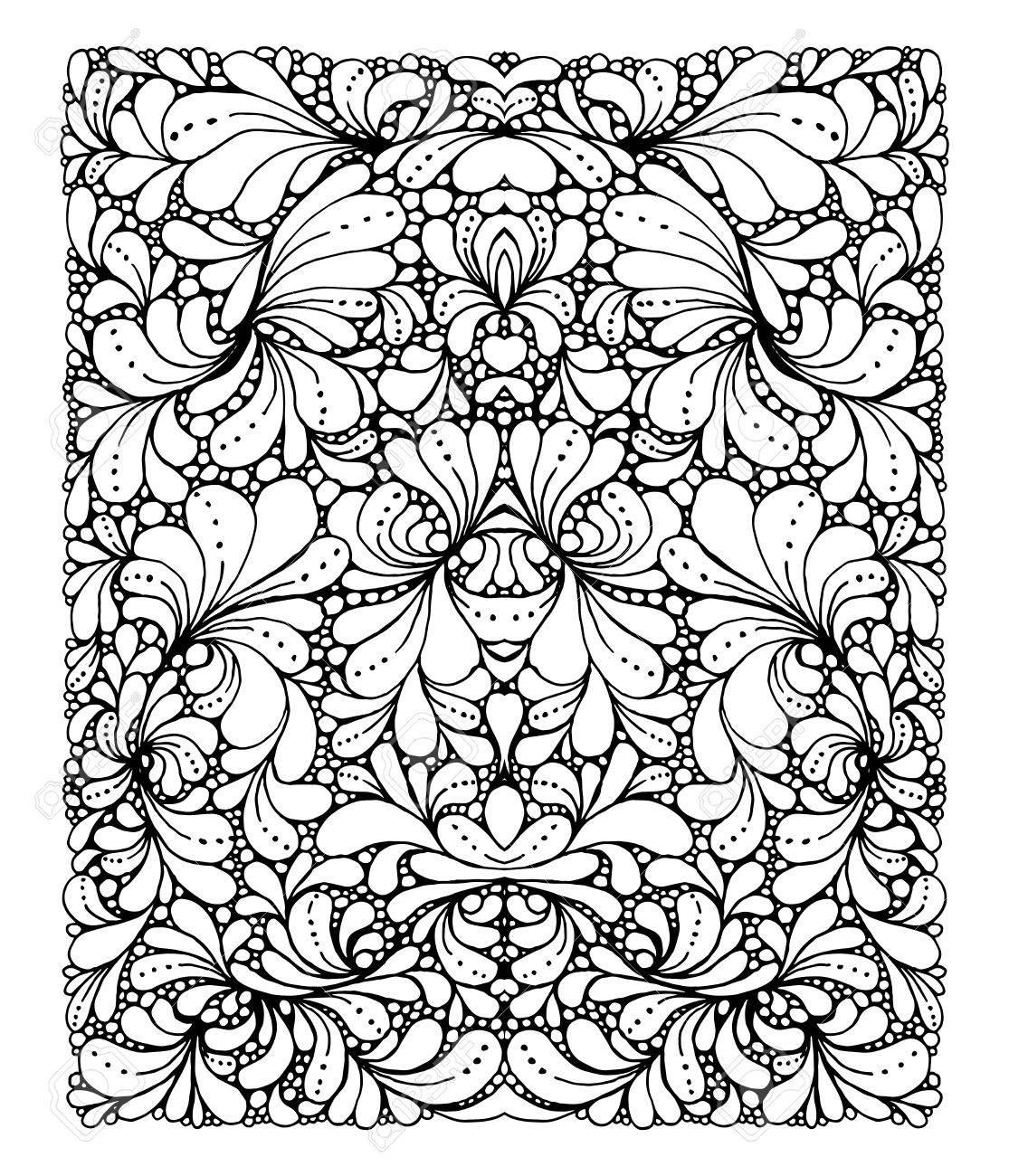 Contemporáneo Diseño Geométrico Fresco Para Colorear Ornamento ...