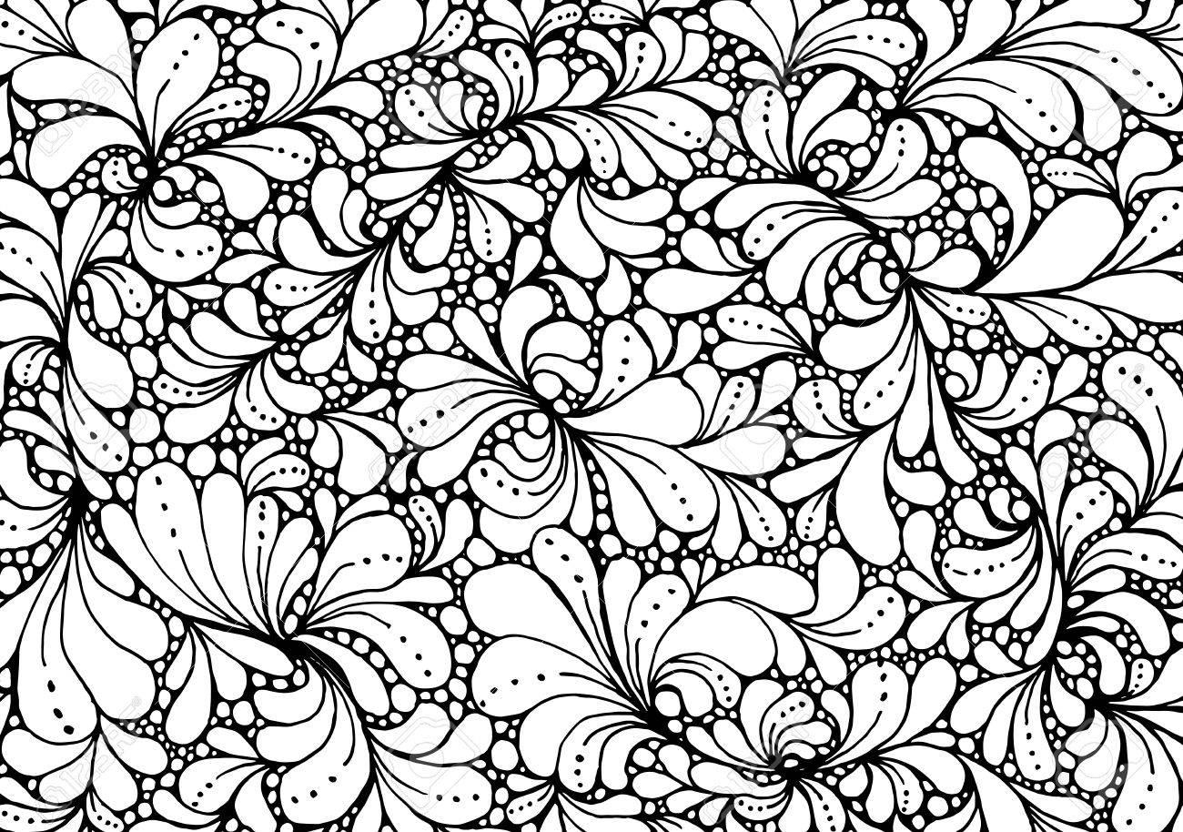 Para Colorear Diseño De Página Del Libro Con Los Pétalos Florales ...