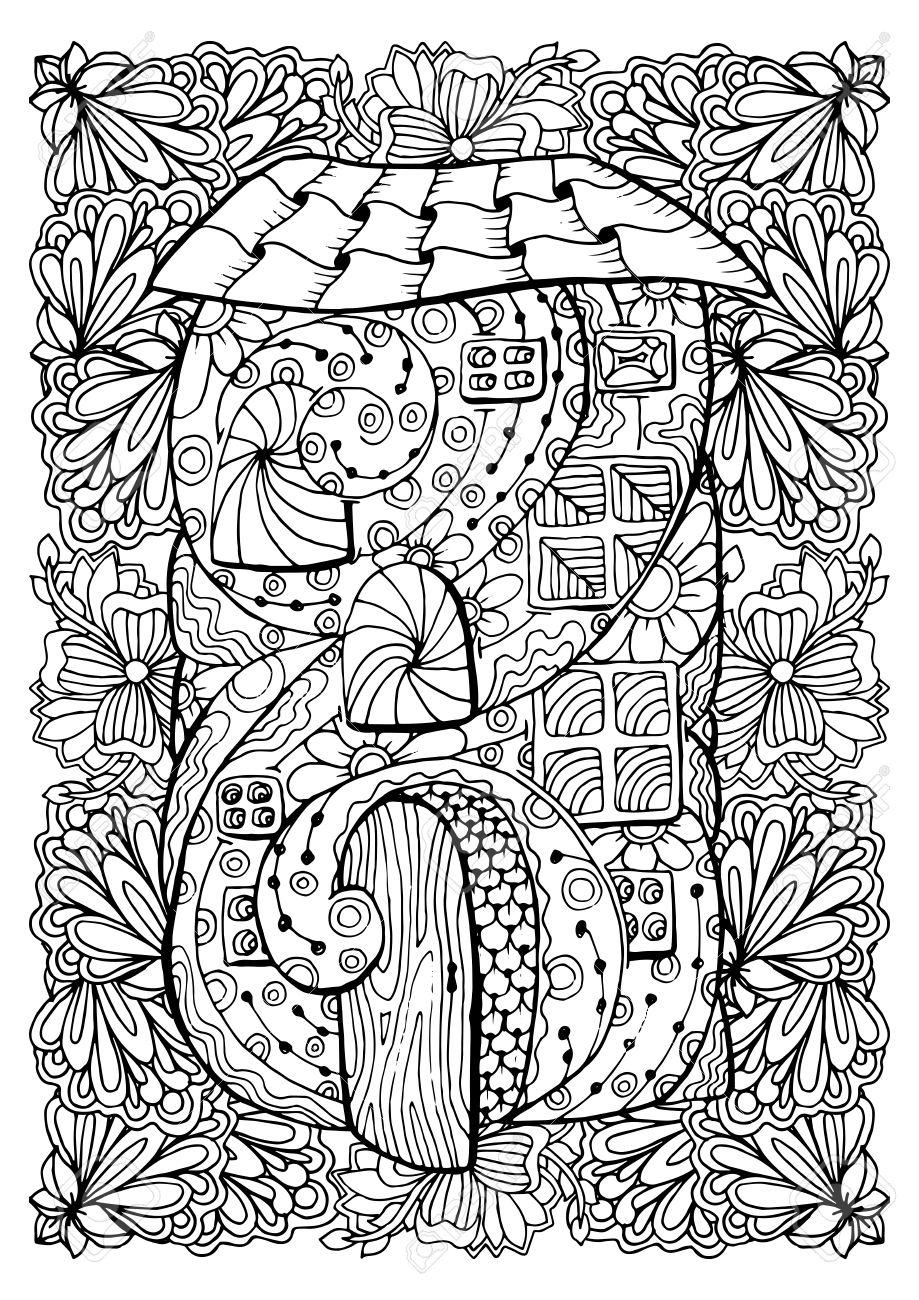 Diseño De La Cubierta De Libro Para Colorear Para Adultos - Casa De ...