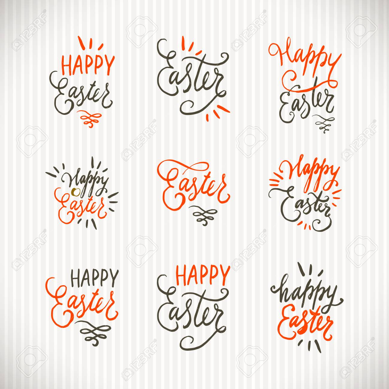 Hand written easter phrases or quotes set greeting card text hand written easter phrases or quotes set greeting card text templates with easter eggs m4hsunfo