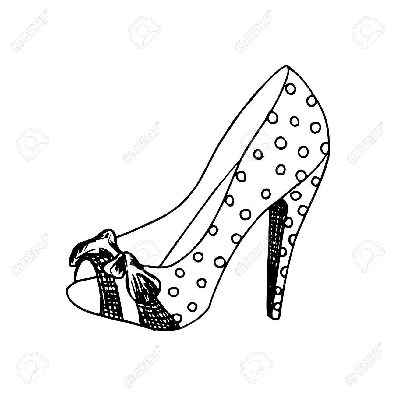 high heeled shoes for woman fashion footwear artwork isolated rh 123rf com Black Ladies Fashion Clip Art Fashion Girl Clip Art