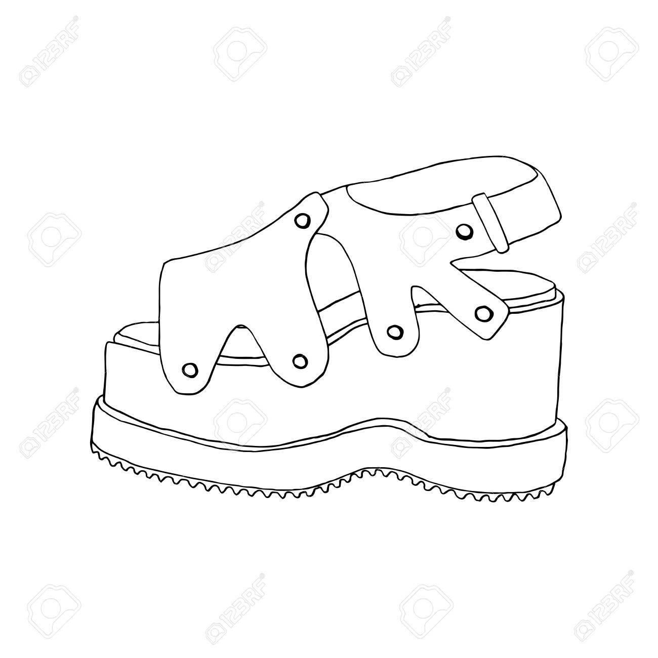 Zapatos De Tacón Alto Para Mujer. Moda Obra Calzado. Clipart Aislada ...