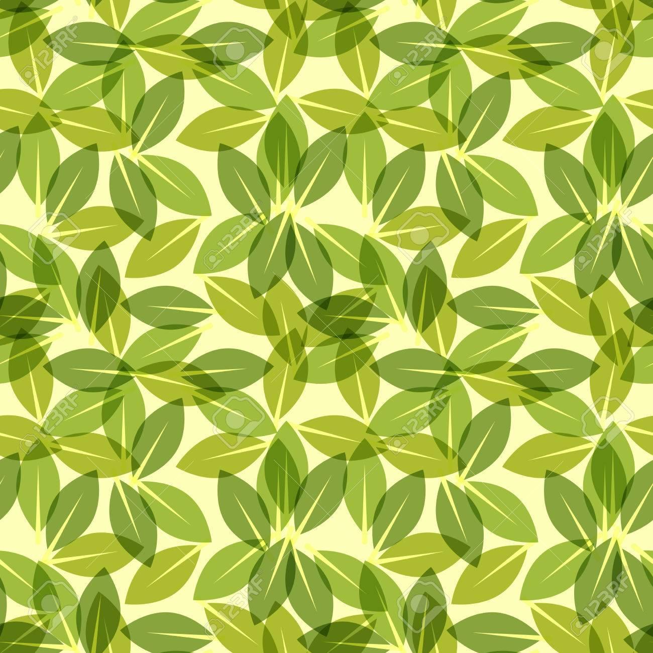Green Leaf Spring Wallpaper Elegant Fresh Foliage Or Greenery Stock Vector