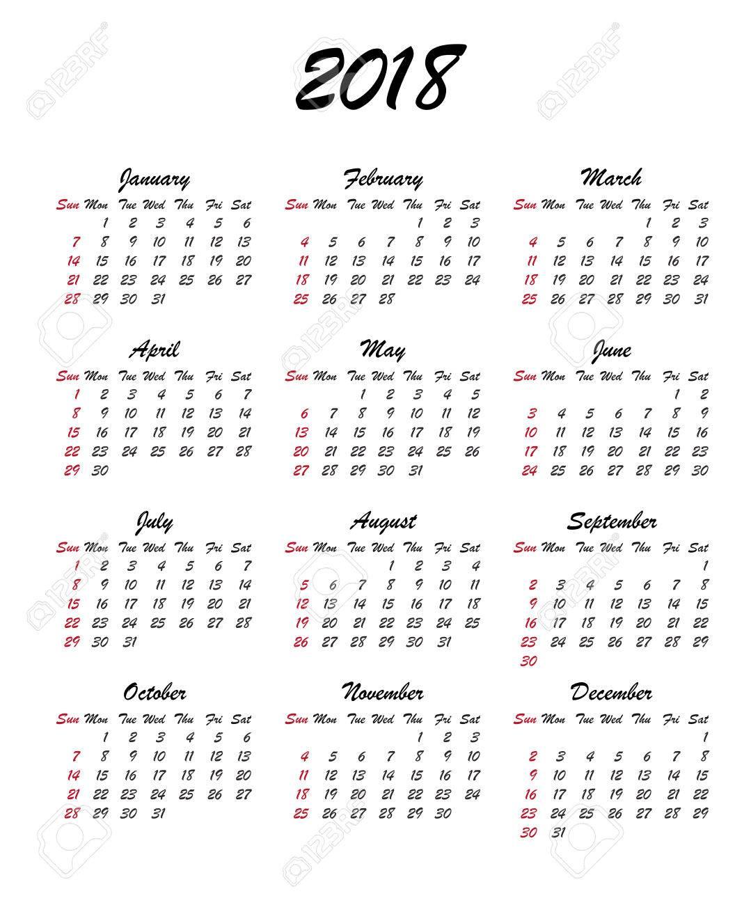 blank 2018 17 calendar