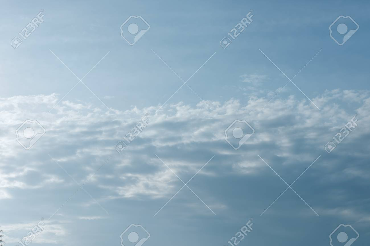 blue sky with clouds background template with some copy space for