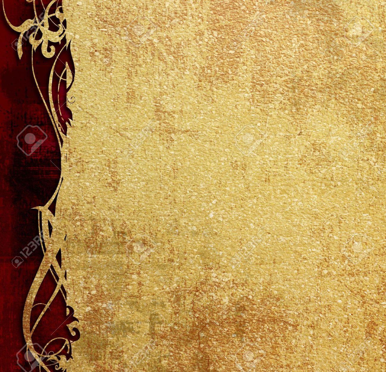 foto de Diseño Floral Sobre Fondo Antiguo Pergamino Fotos, Retratos ...