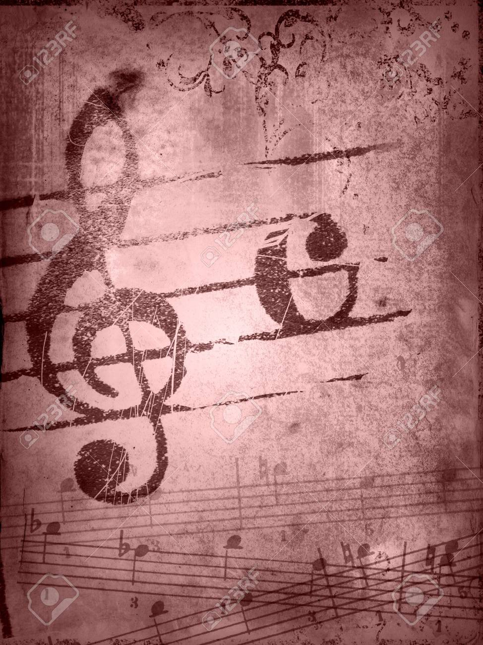 music grunge backgrounds - perfect background with space for text or image Stock Photo - 3235774