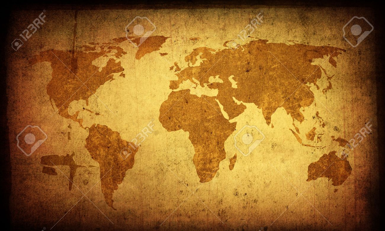 World map artour presence world abstract painting brown old world antique world map background gumiabroncs Gallery