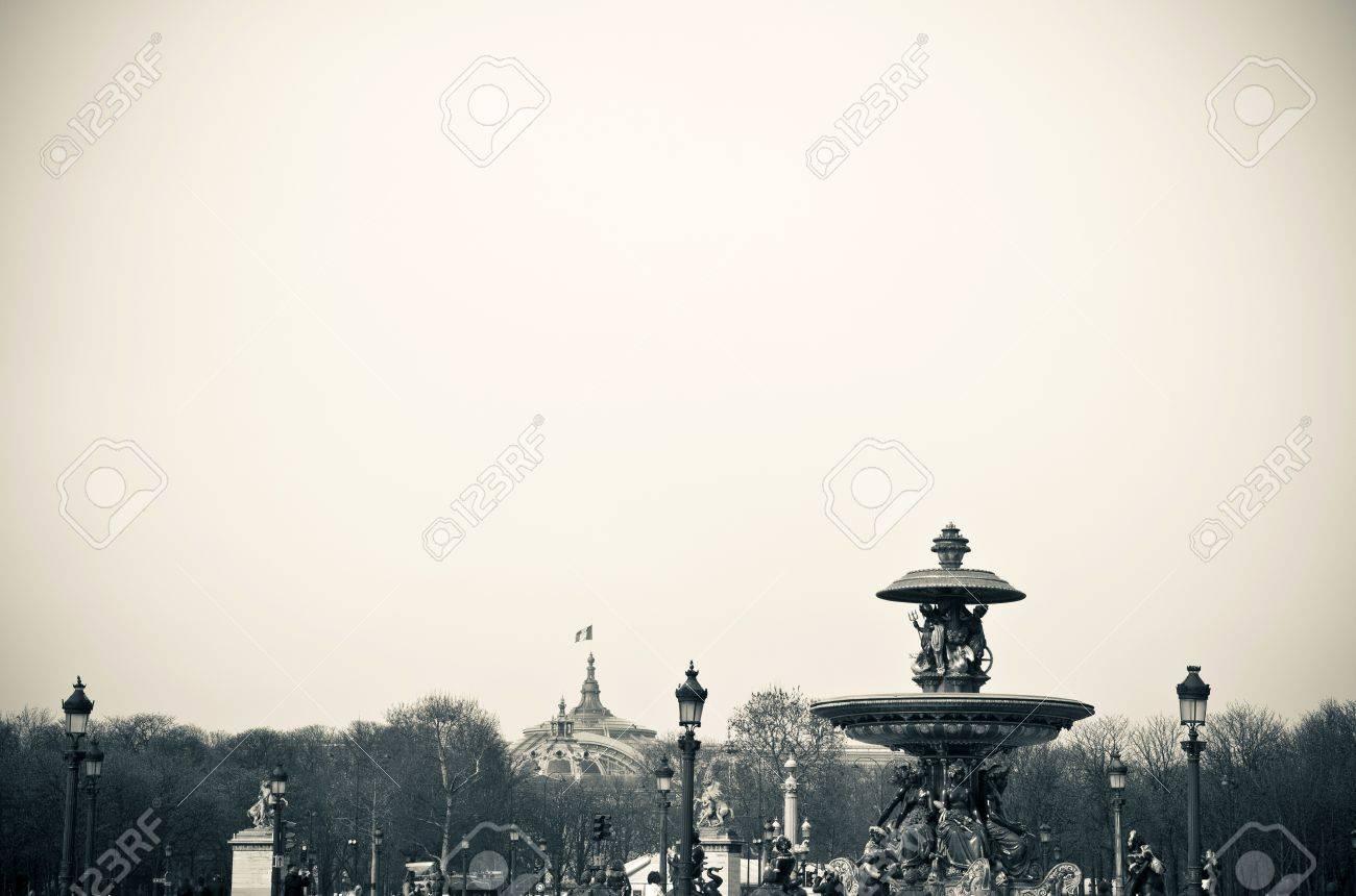 Place de la Concorde-The Place de la Concorde is one of the major public squares in Paris,France.at the eastern end of the Champs-elysees. Stock Photo - 10174547
