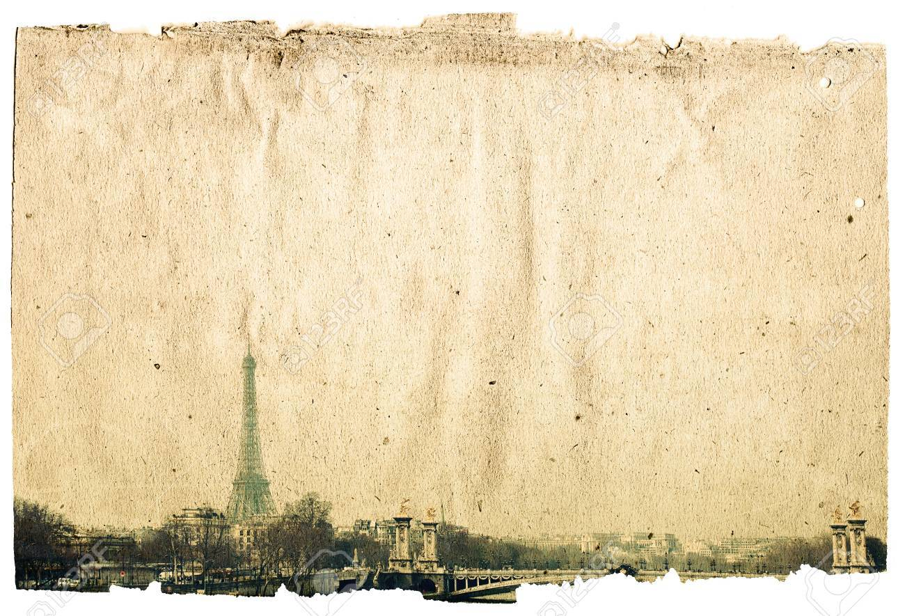 old-fashioned paris france -  with space for text or image Stock Photo - 10328123