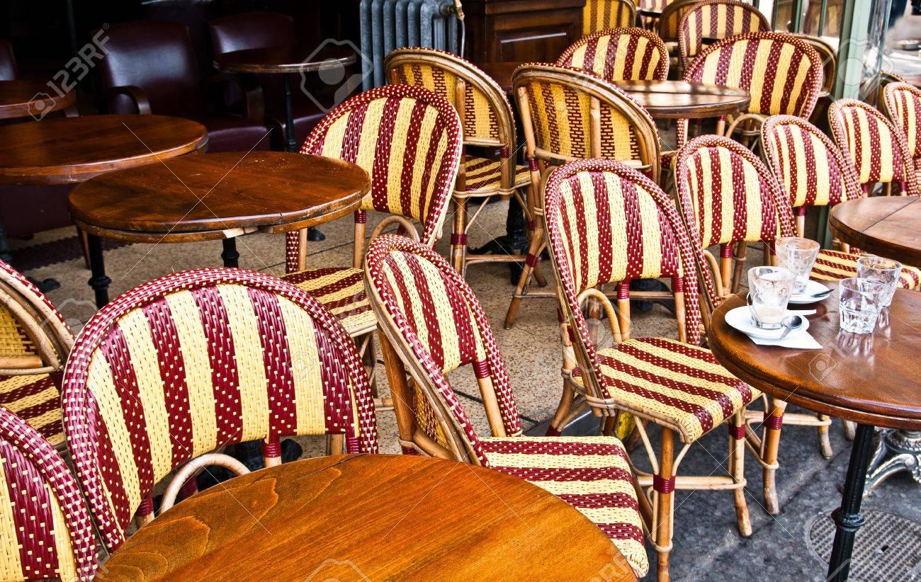 Empty Cafe terrace in paris,France Stock Photo - 10816706