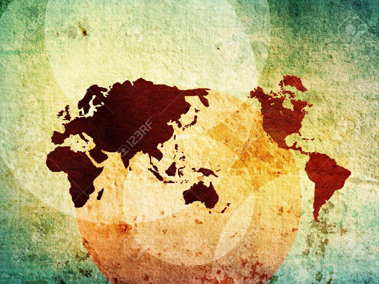 world map vintage artwork perfect background with space Stock Photo - 11782527