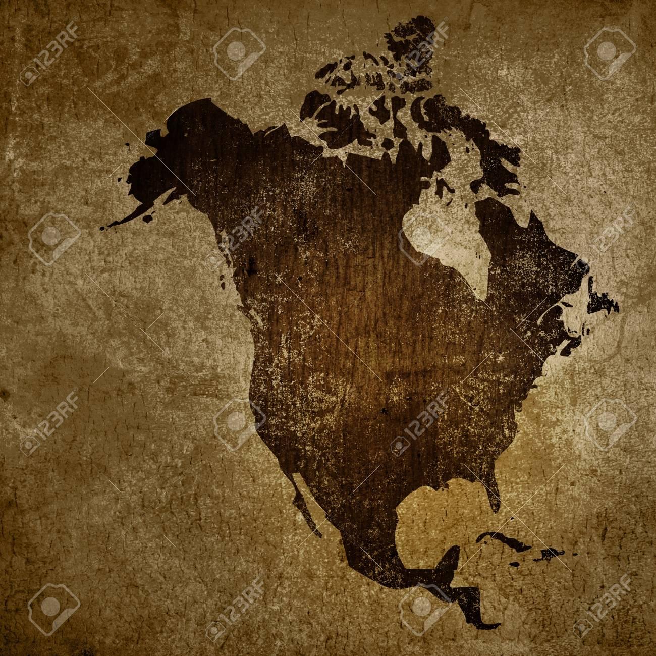 Archivio Fotografico   Di Età Compresa Tra America Mappa Vintage Artwork  Per Il Vostro Disegno