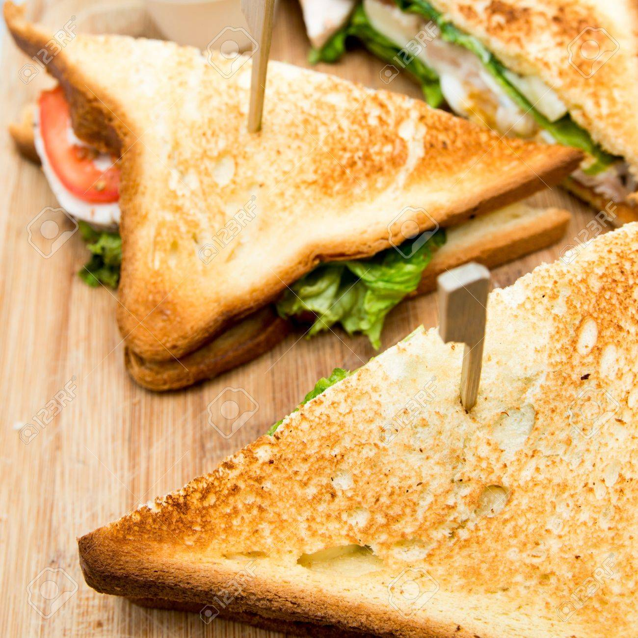 Sandwich with chicken, cheese and lettuce Stock Photo - 16450237