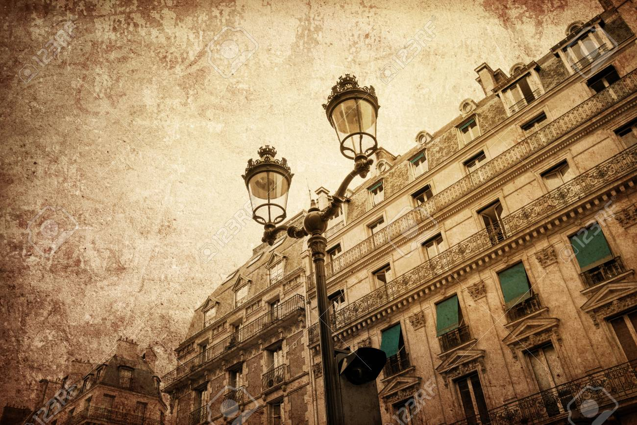 old-fashioned paris france -  with space for text or image Stock Photo - 19353750